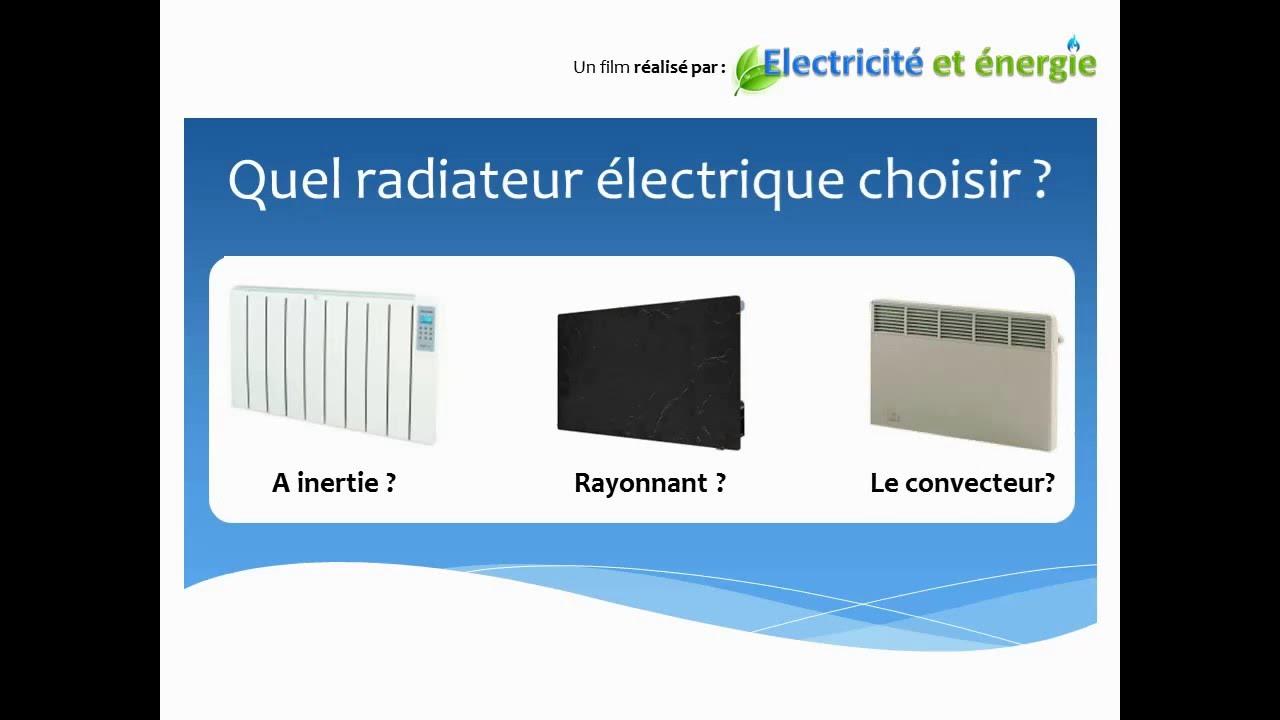 choisir un radiateur électrique