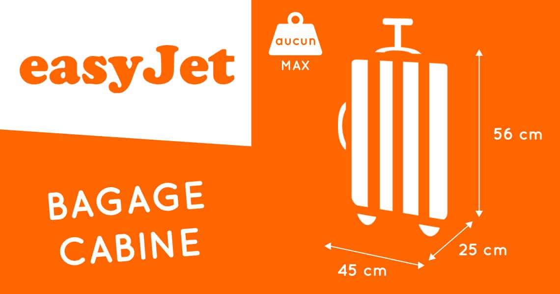 easyjet dimension valise cabine