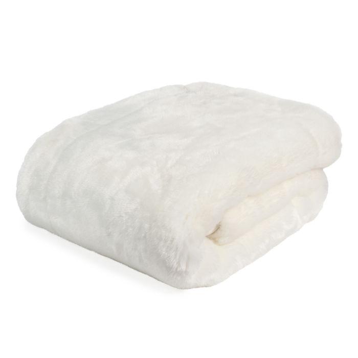 plaid blanc