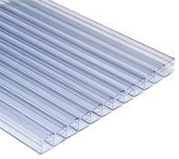 Lexan Plaque alv/éol/ée thermoclear double face UV 4,5 mm /Épaisseur de paroi pour rev/êtement de terrasse 113 x 60,5 cm
