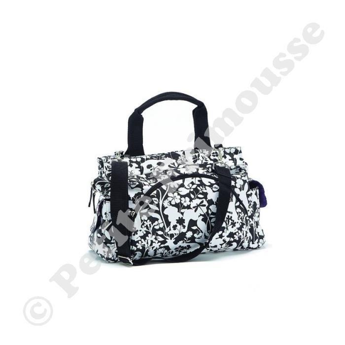 sac a langer noir et blanc