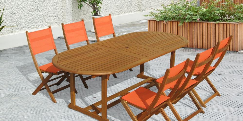 table jardin bois