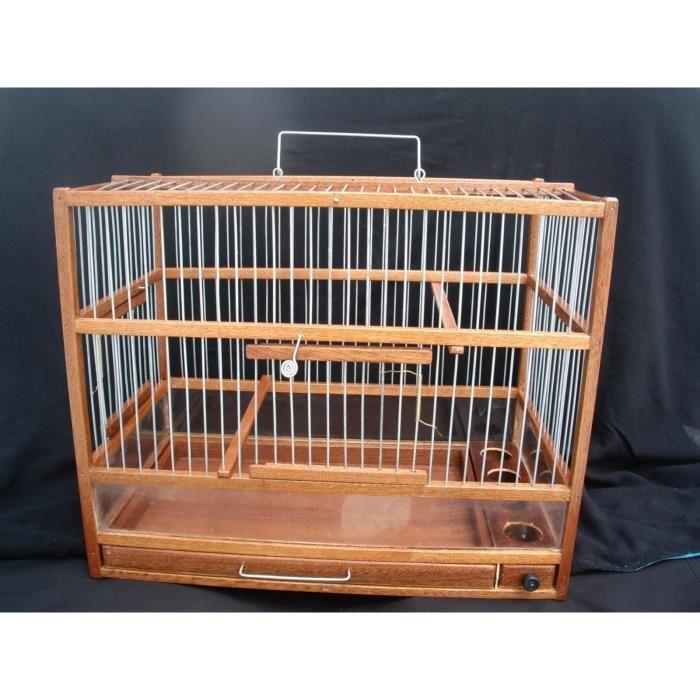 cage oiseaux en bois