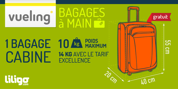dimension bagage a main