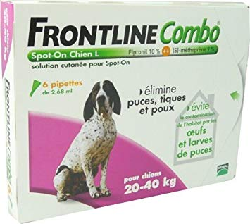 frontline combo chien 20 40kg 6 pipettes