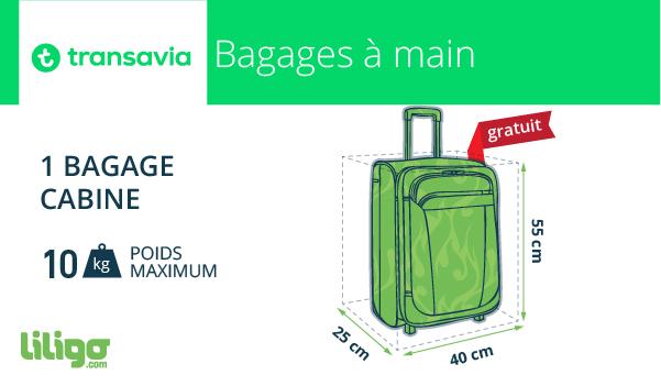 transavia dimension bagage cabine