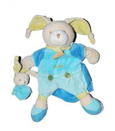 doudou et compagnie lapin bleu