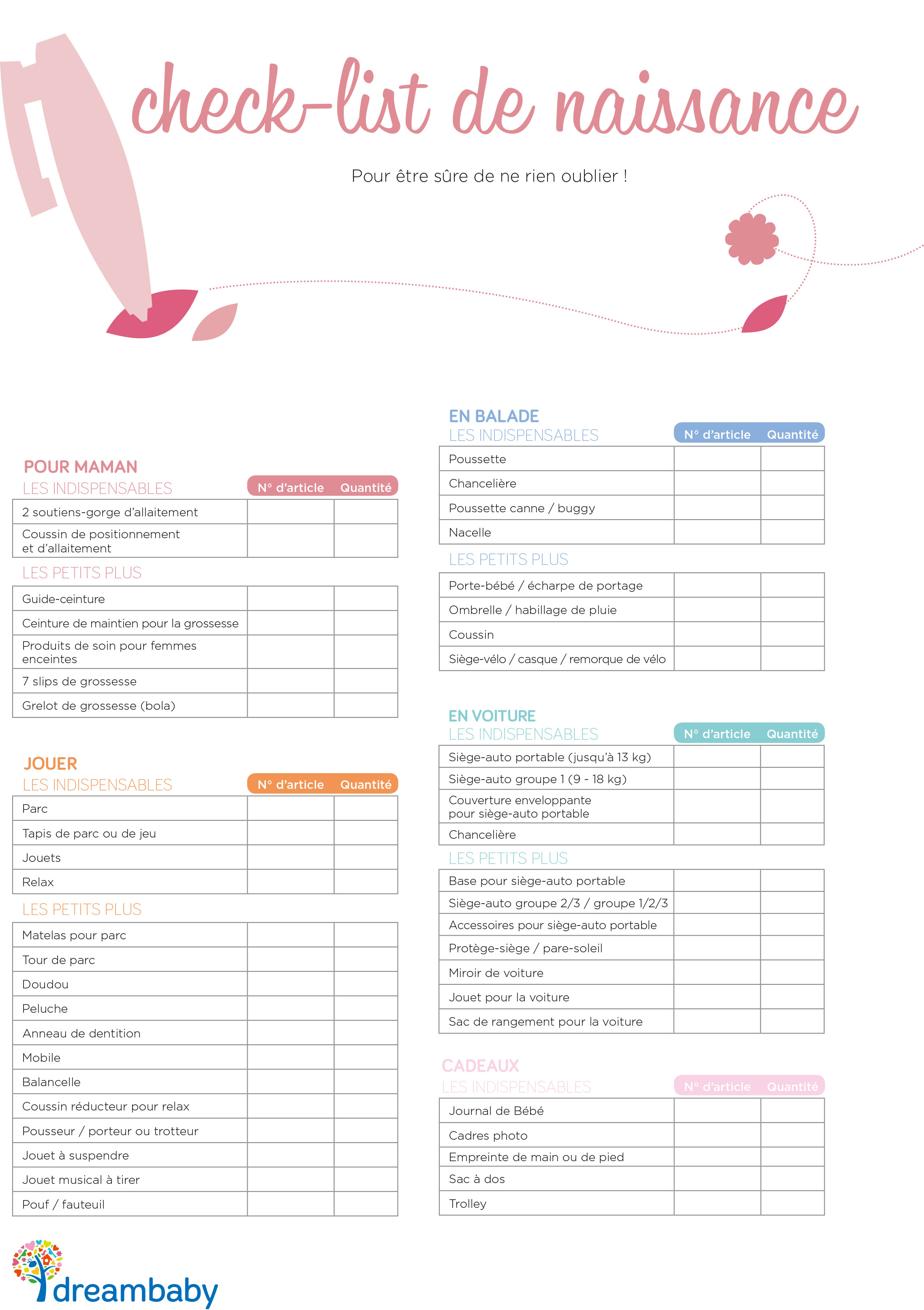 la liste de naissance