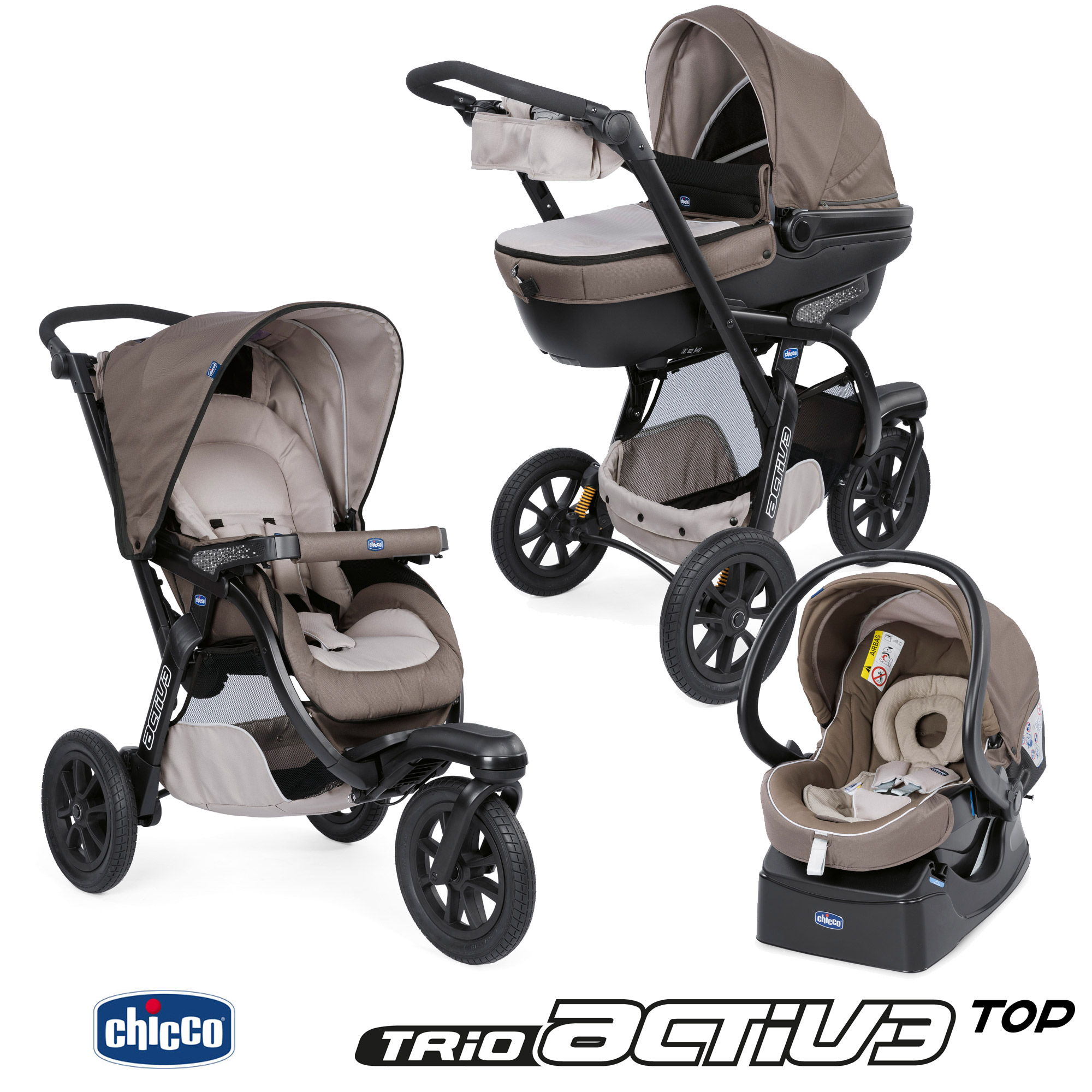 poussette chicco trio active 3