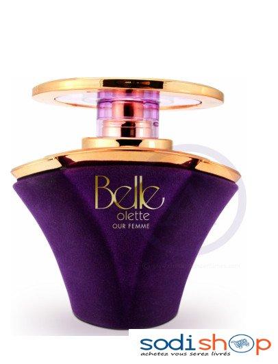 parfum femme bouteille violette